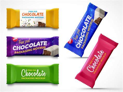 Ui Kits Psd 45 chocolate snack bar packaging psd mockup with zig zag edge