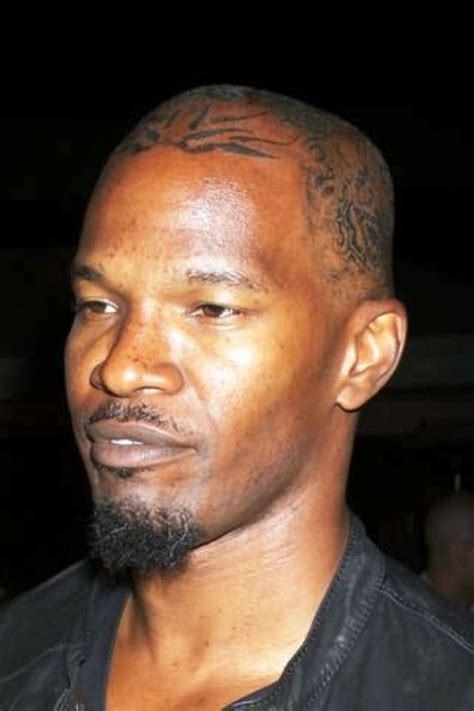jamie foxx head tattoos photos awesome foxx pictures