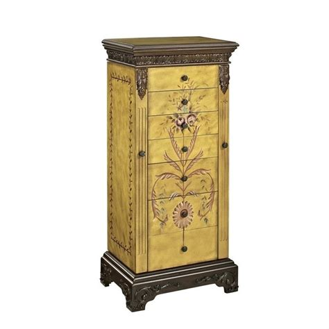 powell armoire powell furniture masterpiece hand painted jewelry armoire 582 314