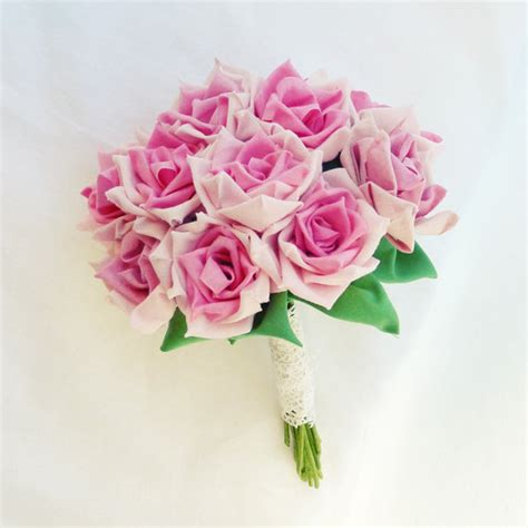 How To Make A Bouquet Of Roses With Paper - fabric flower bouquet roses or vase arrangment true roses