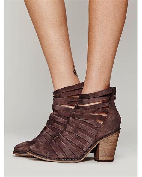 free hybrid heel boot free hybrid heel boot in brown chocolate lyst