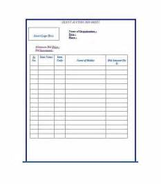 free auction templates free silent auction bid sheet templates word excel