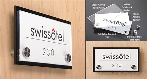 custom door sign conference room or name plate designations