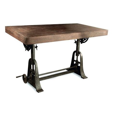 Iron Drafting Table Kossi Industrial Rustic Wood Cast Iron Drafting Table Desk Kathy Kuo Home