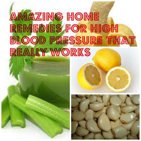 6 amazing home remedies for high blood pressure that