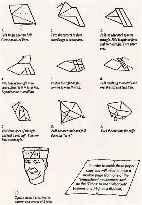 How To Make Cap From Paper - paper hats patterns 171 free patterns