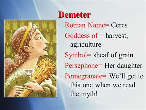 harvest of demeter goddess symbol ancient greek gods ppt video online download
