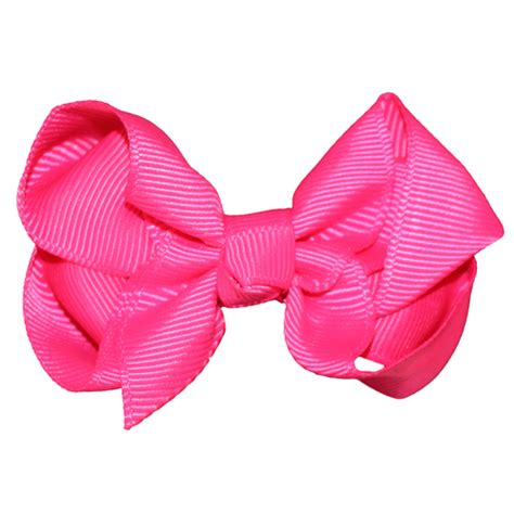 Hairclip Pink 1 bowtique small hairclip pink childrens outlet