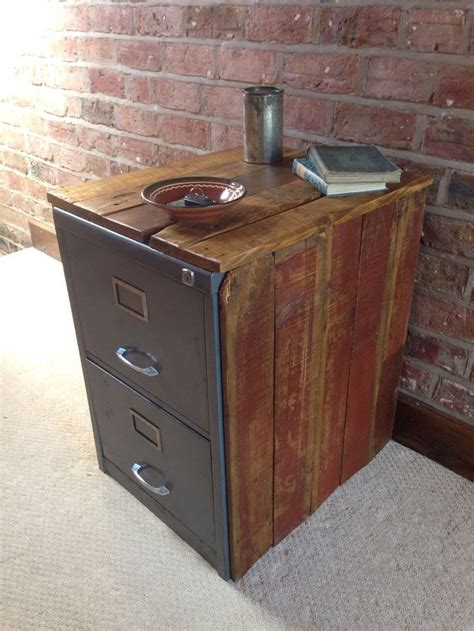 Vintage Metal File Cabinet Luxe Vintage Metal Filing Cabinet Encased In Reclaimed Wood Vintage Classroom And Office
