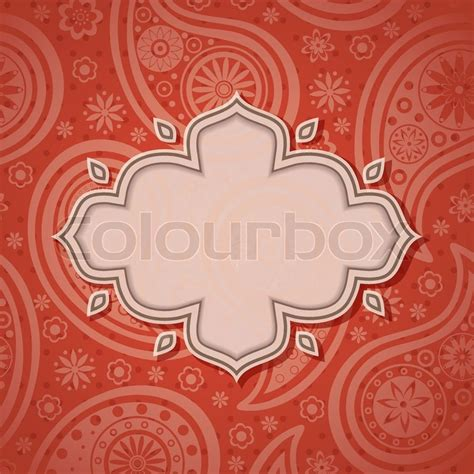 indian pattern frame frame in the indian style stock vector colourbox