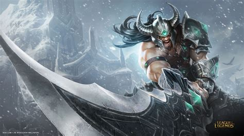 league  legends game lol tryndamere sword hd widescreen