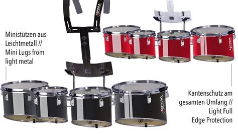 Jual Bas Drum Senare Drum Tenore Drum Band Murah lefima ultralight pro multi tenor drums
