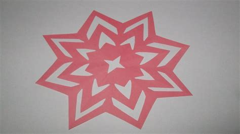 How To Make Paper Design Cuttings - how to make simple easy paper cutting flower designs diy