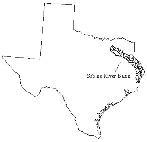 sabine river texas map tutorial on how to prepare data for and how to use the arcview3 watershed delineation tool