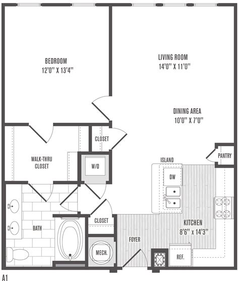 Square Living Room Floor Plans 1 2 And 3 Bedroom Floor Plans Pricing Jefferson
