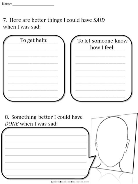 Therapy Worksheets by Cbt Children S Emotion Worksheet Series 7 Worksheets For