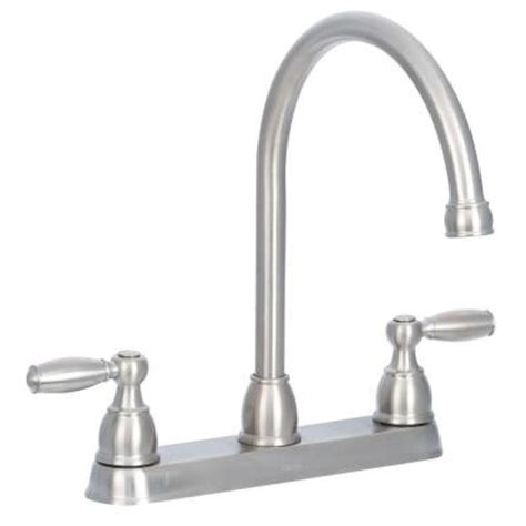 delta foundations 2 handle standard kitchen faucet with side sprayer in stainless 21988lf ss delta foundations 2 handle standard kitchen faucet with