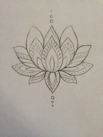 henna tattoo zeichnen simple black outline lotus flower on ankle
