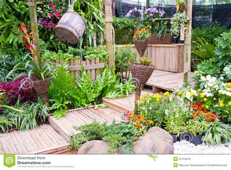 beautiful small gardens beautiful small garden royalty free stock photos image 21410818