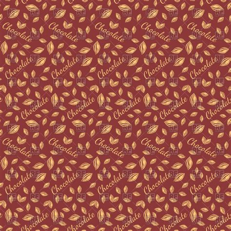 chocolate theme seamless background vector image