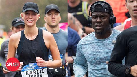 kevin hart marathon time kevin hart and karlie kloss run nyc marathon daily