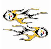 Amazoncom  Pittsburgh Steelers NFL Micro Flames Auto Decal 2 Pack