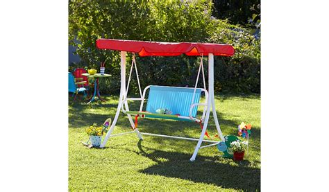 childrens garden swing seat kids swing seat garden furniture george at asda