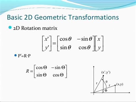 Rotator Matrix Two Dimentional Transform