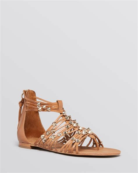 gladiator sandal ash flat gladiator sandals medusa in brown cookie