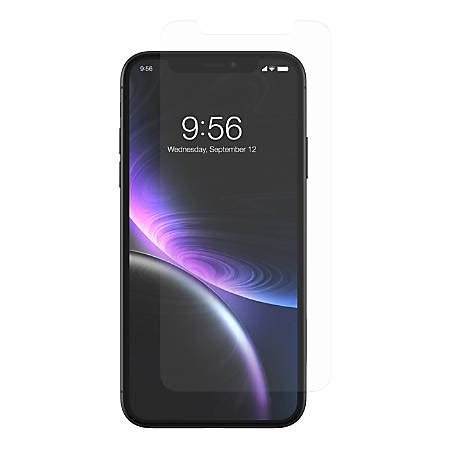 zagg invisibleshield glass anti glare screen protector  apple iphone xr office depot