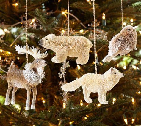 arctic animal ornaments set of 4 pottery barn
