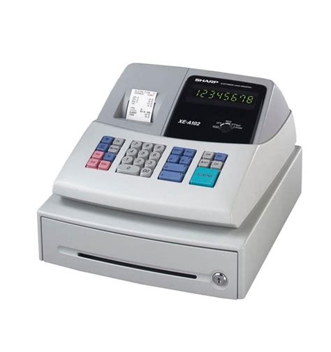 small business cash drawer sharp xe a102 small business cash register refurb free