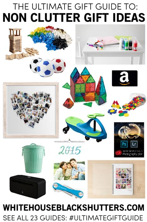 family gifts for the ultimate gift guide non clutter gifts