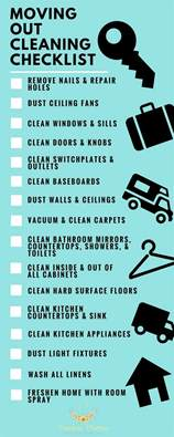 Move Out Cleaning Includes Moving Out Cleaning Checklist Blue Chip Moving