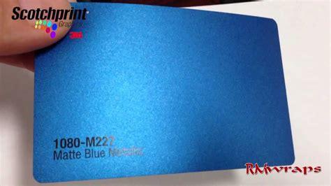3m metallic vinyl 3m scotchprint 174 wrap m227 matte blue metallic