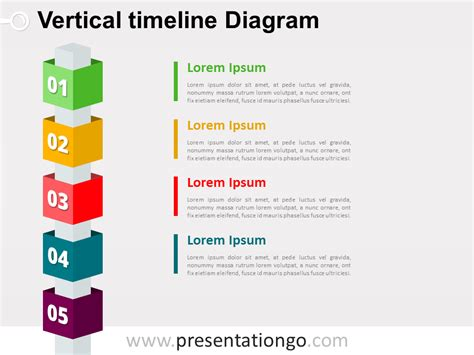 timeline template for powerpoint 2010 free vertical timeline cubes powerpoint diagram
