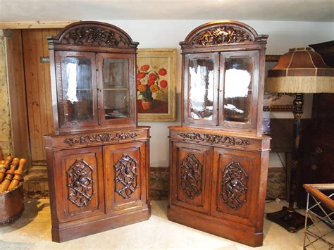 Cloverleaf Home Interiors by Cabinets Bookcase Display Victorian Carved Oak Antiques