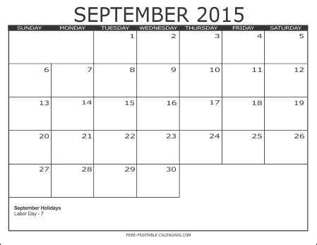 printable calendars september 2015 image gallery september 2026 calendar