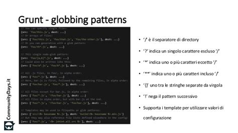 javascript glob pattern npm grunt e bower il nuovo package manager di visual