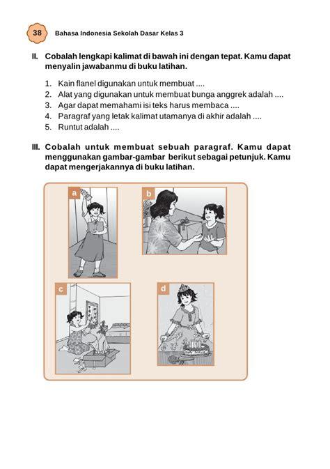 urutan teks prosedur membuat bunga dari sedotan kelas iii sd bahasa indonesia umri nuraini