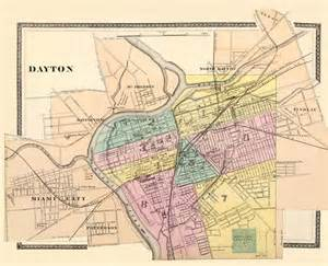 antique map vintage map of dayton antique by ancientshades