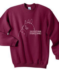 Sweater Totoro Logo totoro studio ghibli logo sweatshirts sweater fansshirt