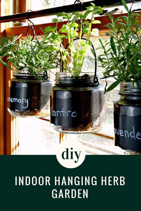 diy indoor hanging herb garden tutorial quick  simple