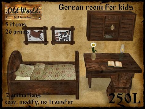 medieval bedroom set second life marketplace medieval bedroom set for children kids 2 old world