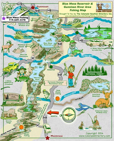 southwest colorado fly fishing map blue mesa reservoir gunnison fishing map colorado