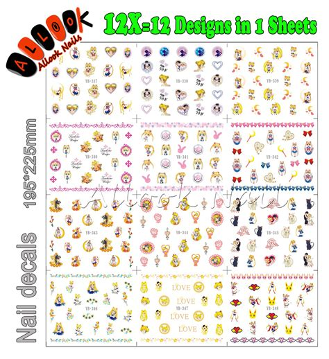 printable nail stickers paper online buy wholesale sailor moon sheets from china sailor
