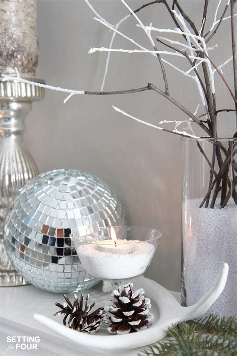 winter mantel decorating ideas winter mantel decorating ideas setting for four