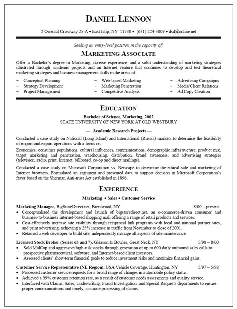 new college graduate resume sle template resume sles