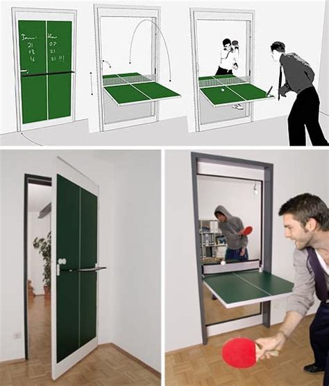 ping pong table door interior door design flips doubles as ping pong table