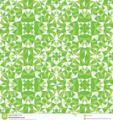 vector pattern background green green triangle texture seamless pattern background stock